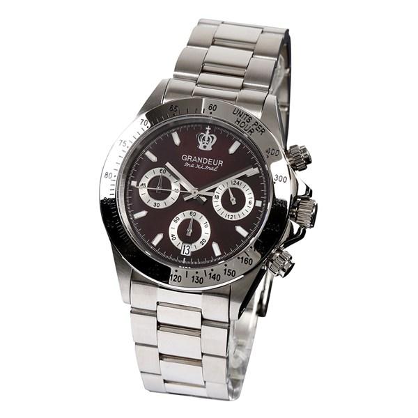 【正規輸入品】(グランドール)GRANDEUR 腕時計 JGR004W2 メンズ 日本製 クロノグラフ(ステンレスバンド クオーツ 多針アナログ)(快適家電デジタルライフ)