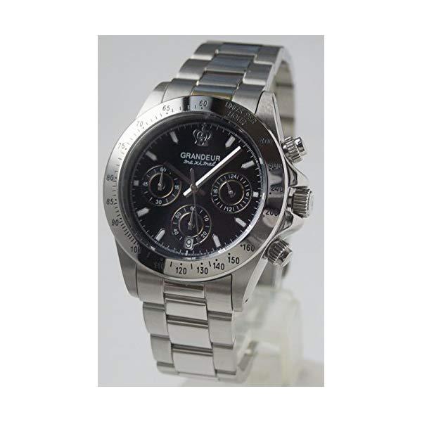 【正規輸入品】(グランドール)GRANDEUR 腕時計 JGR004W3 メンズ 日本製 クロノグラフ(ステンレスバンド クオーツ 多針アナログ)(快適家電デジタルライフ)