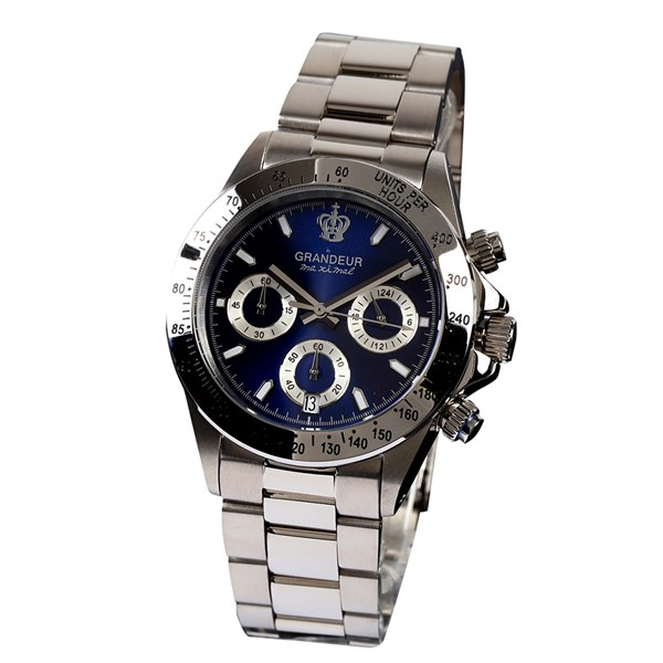 【正規輸入品】(グランドール)GRANDEUR 腕時計 JGR004W5 メンズ 日本製 クロノグラフ(ステンレスバンド クオーツ 多針アナログ)(快適家電デジタルライフ)