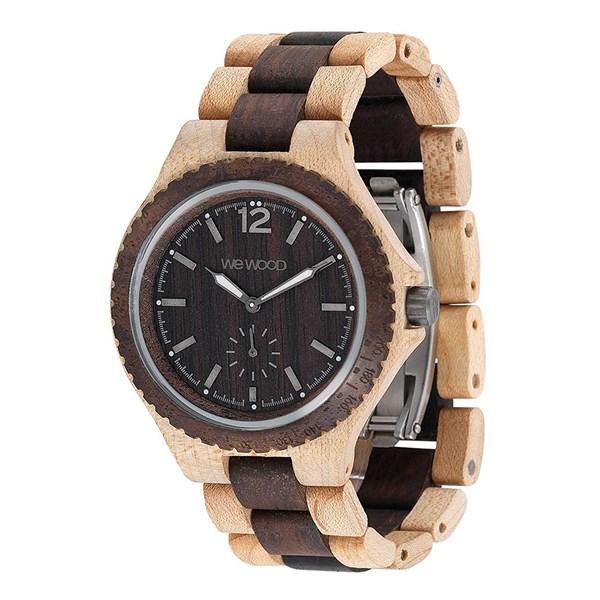 【正規輸入品】(ウィーウッド)WEWOOD 腕時計 9818159 SIKO BEIGE CHOCO メンズ 木製(木製バンド クオーツ 多針アナログ)(快適家電デジタルライフ)