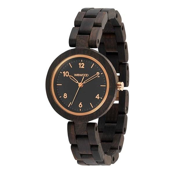 【正規輸入品】(ウィーウッド)WEWOOD 腕時計 9818180 DAPHNE BK ROUGH ROSE レディース 木製(木製バンド クオーツ アナログ)(快適家電デジタルライフ)