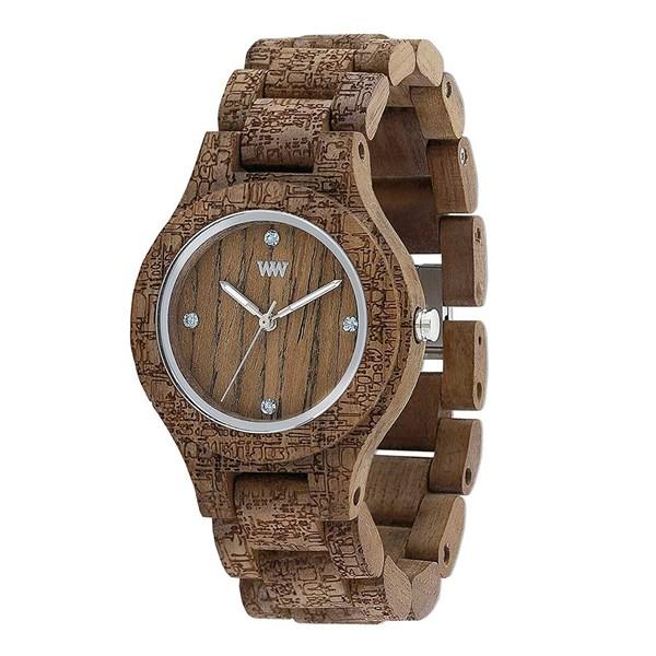【正規輸入品】(ウィーウッド)WEWOOD 腕時計 9818161 ANTEA NUT ROUGH FABRIC レディース 木製(木製バンド クオーツ アナログ)(快適家電デジタルライフ)