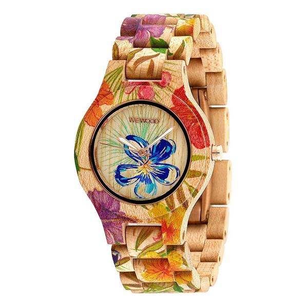 【正規輸入品】(ウィーウッド)WEWOOD 腕時計 9818171 ANTEA FLOWER BEIGE レディース 木製(木製バンド クオーツ アナログ)(快適家電デジタルライフ)