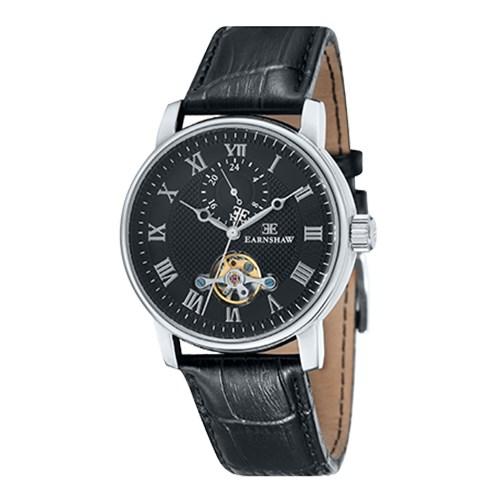 【正規輸入品】(アーンショウ)EARNSHAW 腕時計 ES-8042-01 DARWIN メンズ(レザーバンド 自動巻き 多針アナログ)(快適家電デジタルライフ)