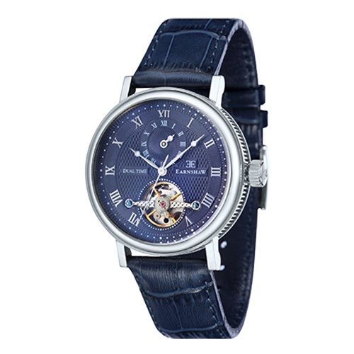 【正規輸入品】(アーンショウ)EARNSHAW 腕時計 ES-8047-06 BEAUFORT メンズ(レザーバンド 自動巻き 多針アナログ)(快適家電デジタルライフ)