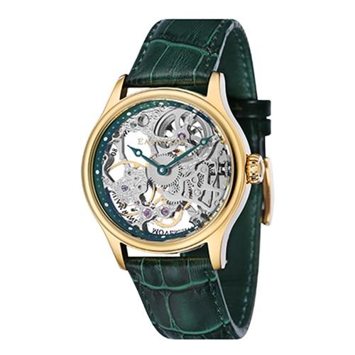 【正規輸入品】(アーンショウ)EARNSHAW 腕時計 ES-8049-05 BAUER メンズ(レザーバンド 手巻き アナログ)(快適家電デジタルライフ)
