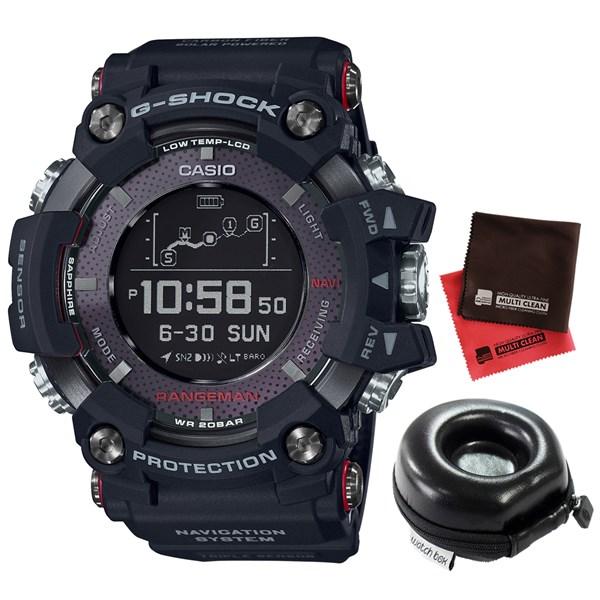 (時計ケース・クロスセット)(国内正規品)(カシオ)CASIO 腕時計 GPR-B1000-1JR (ジーショック)G-SHOCK RANGEMAN メンズ Bluetooth搭載(カーボンファイバー GPSソーラー デジタル)(快適家電デジタルライフ)