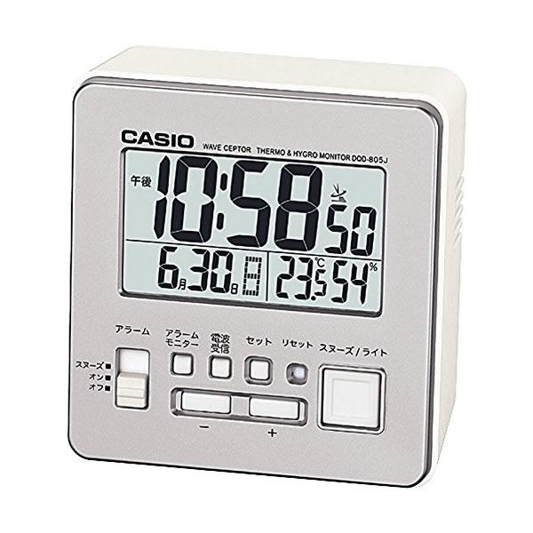 【セット】【国内正規品】(カシオ)CASIO 腕時計 LWA-M141L-2A4JF wave cepter(ウェーブセプター) ネイビー ソーラー電波時計 レディース&電波目覚時計 DQD-805J-8JF(快適家電デジタルライフ)