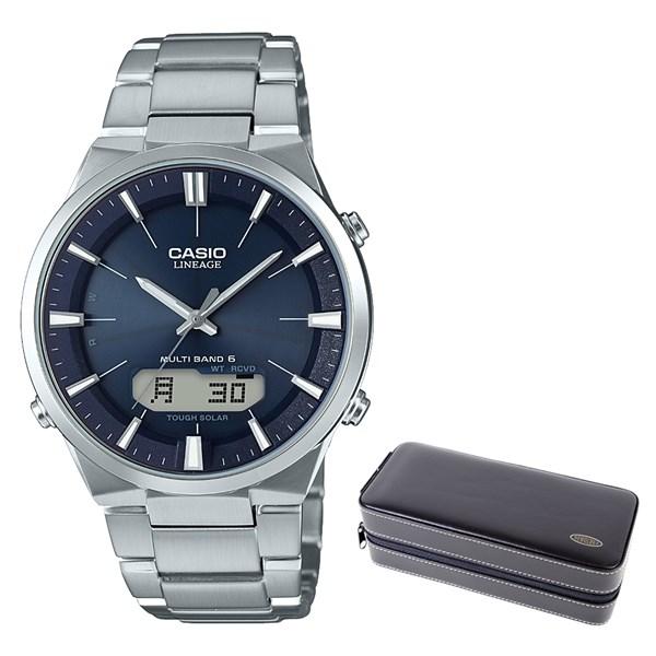 (セット)(国内正規品)(カシオ)CASIO 腕時計 LCW-M510D-2AJF (リニエージ)LINEAGE メンズ&時計・アクセサリーケース ブラック(ステンレスバンド 電波ソーラー アナログ)(快適家電デジタルライフ)