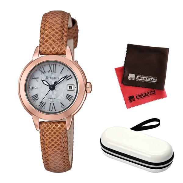 消費税無し (セット)(国内正規品)(カシオ)CASIO 腕時計 SHW-5000PGL-7AJF (シーン)SHEEN SHW-5000PGL-7AJF レディース&腕時計ケース (シーン)SHEEN・クロス2枚(牛革バンド 電波ソーラー 腕時計 アナログ)(快適家電デジタルライフ), オシャレでカワイイ雑貨のhoho:b4563315 --- iphonewallpaper.site