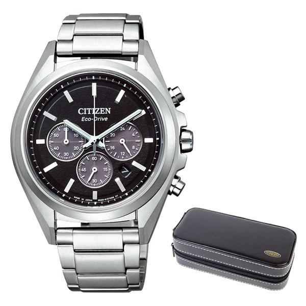 (時計ケースセット)(国内正規品)(シチズン)CITIZEN 腕時計 CA4390-55E (アテッサ)ATTESA メンズ クロノグラフ(チタンバンド ソーラー 多針アナログ)(快適家電デジタルライフ)