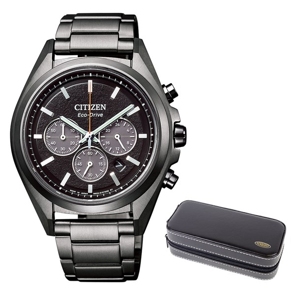 「MY CITIZEN」 延長サービス2年保証(時計ケースセット)(国内正規品)(シチズン)CITIZEN 腕時計 CA4394-54E (アテッサ)ATTESA メンズ クロノグラフ(チタンバンド ソーラー 多針アナログ)(快適家電デジタルライフ)