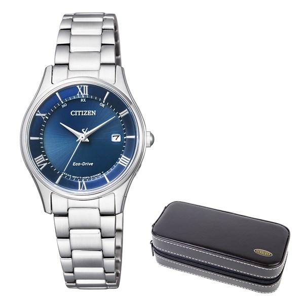 (時計ケースセット)(国内正規品)(シチズン)CITIZEN 腕時計 ES0000-79L シチズンコレクション レディース エコドライブ電波時計 薄型(ステンレスバンド 電波ソーラー アナログ)(快適家電デジタルライフ)