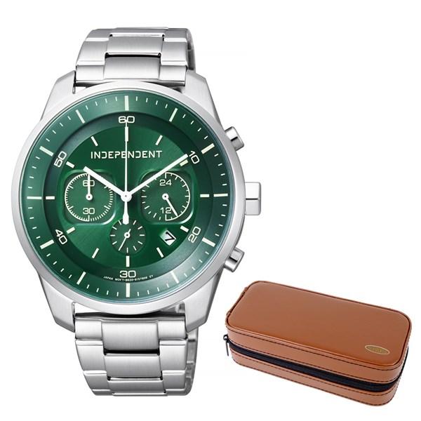 (セット)(国内正規品)(シチズン)CITIZEN 腕時計 KF5-217-41 (インディペンデント)INDEPENDENT メンズ INNOVATIVE line&腕時計ケース2本用 ブラウン(ステンレスバンド ソーラー アナログ)(快適家電デジタルライフ)