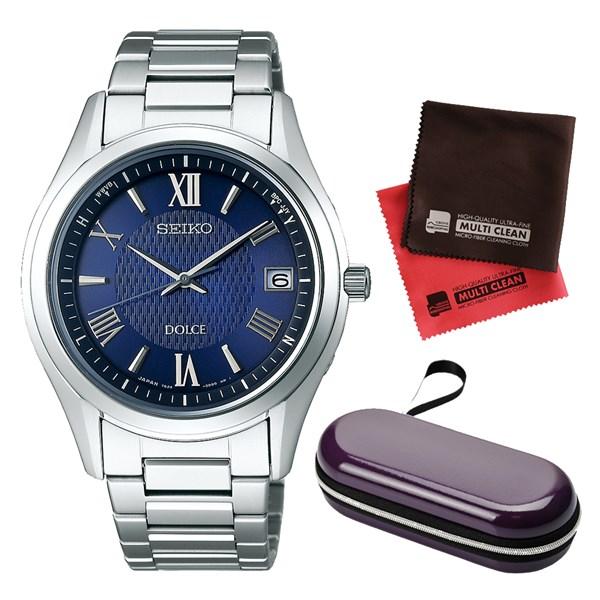 (セット)(国内正規品)(セイコー)SEIKO 腕時計 SADZ197 DOLCE & EXCELINE(ドルチェ&エクセリーヌ) メンズ&腕時計ケース1本用・クロス2枚(ステンレスバンド ソーラー電波 アナログ)(快適家電デジタルライフ)