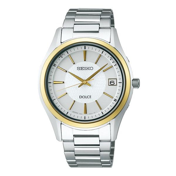 (ペア箱入りセット)(国内正規品)(セイコー)SEIKO 腕時計 SADZ188・SWCW150 ドルチェ&エクセリーヌ&腕時計ケース2個・クロス2枚(ステンレスバンド ソーラー電波 アナログ ペアウォッチ)(快適家電デジタルライフ)