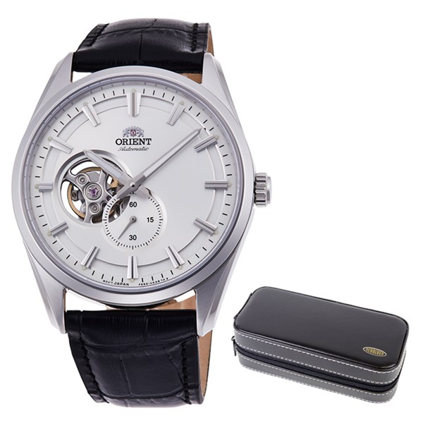 【時計ケースセット】【国内正規品】(オリエント)ORIENT 腕時計 RN-AR0003S (コンテンポラリー)CONTEMPORARY メンズ セミスケルトン(牛革バンド 自動巻き(手巻き付) 多針アナログ)(快適家電デジタルライフ)