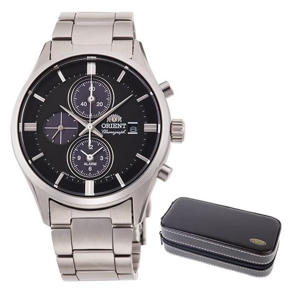 【時計ケースセット】【国内正規品】(オリエント)ORIENT 腕時計 RN-TY0002B (コンテンポラリー)CONTEMPORARY メンズ クロノグラフ(ステンレスバンド ソーラー 多針アナログ)(快適家電デジタルライフ)