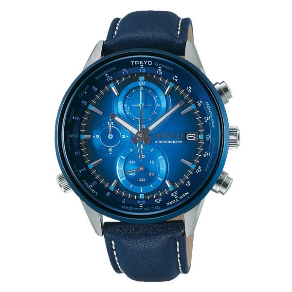 (国内正規品)(セイコー)SEIKO 腕時計 AGAW713 (ワイアード)WIRED メンズ wena コラボレーション 限定(牛革バンド クオーツ 多針アナログ)(快適家電デジタルライフ)