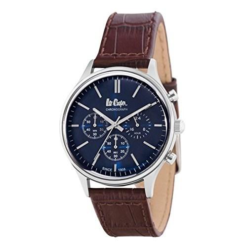 【正規輸入品】(リークーパー)Lee Cooper 腕時計 LC6293.392 牛本革ブラウンレザー メンズ(革バンド クオーツ 多針アナログ)(快適家電デジタルライフ)