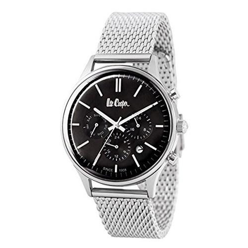 【正規輸入品】(リークーパー)Lee Cooper 腕時計 LC6294.350 シルバーステンレススチールメッシュ メンズ(ステンレスバンド クオーツ 多針アナログ)(快適家電デジタルライフ)