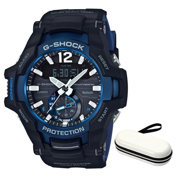 (時計ケースセット)(国内正規品)(カシオ)CASIO 腕時計 GR-B100-1A2JF (ジーショック)G-SHOCK メンズ グラビティマスター Bluetooth搭載(樹脂バンド ソーラー アナデジ)(快適家電デジタルライフ)