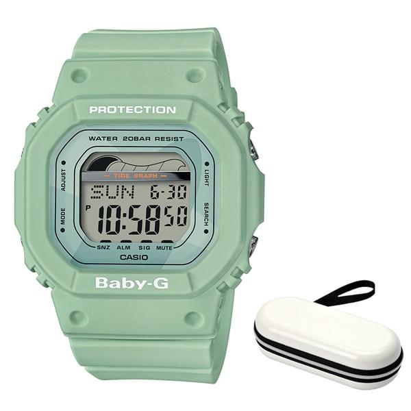(ケースセット)(国内正規品)(カシオ)CASIO 腕時計 BLX-560-3JF (ベビーG)BABY-G レディース G-LIDE&腕時計ケース1本用 ホワイト(樹脂バンド クオーツ デジタル)(快適家電デジタルライフ)