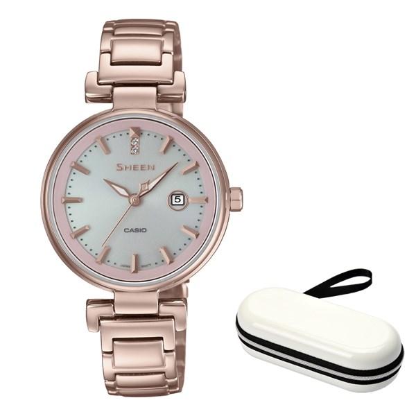 (時計ケースセット)(国内正規品)(カシオ)CASIO 腕時計 SHS-4524CG-4AJF (シーン)SHEEN レディース(ステンレスバンド ソーラー アナログ)(快適家電デジタルライフ)