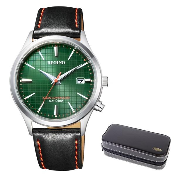 (時計ケースセット)(国内正規品)(シチズン)CITIZEN 腕時計 KL8-911-40 (レグノ)REGUNO メンズ ソーラーテック 電波(牛革バンド 電波ソーラー アナログ)(快適家電デジタルライフ)