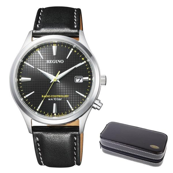 (時計ケースセット)(国内正規品)(シチズン)CITIZEN 腕時計 KL8-911-50 (レグノ)REGUNO メンズ ソーラーテック 電波(牛革バンド 電波ソーラー アナログ)(快適家電デジタルライフ)