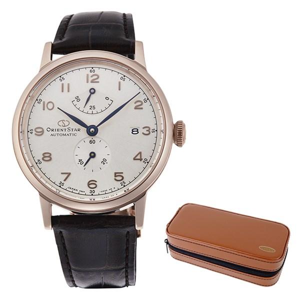 (時計ケースセット)(国内正規品)(オリエントスター)ORIENTSTAR 腕時計 RK-AW0003S クラシック メンズ レディース ヘリテージゴシック&腕時計ケース2本用 ブラウン(牛革バンド 自動巻き(手巻付) 多針アナログ)(快適家電デジタルライフ)