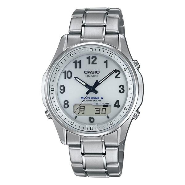 (国内正規品)(カシオ)CASIO 腕時計 LCW-M100TSE-7AJF LINEAGE(リニエージ) メンズ タフソーラー(チタンバンド 電波ソーラー アナデジ)(快適家電デジタルライフ)