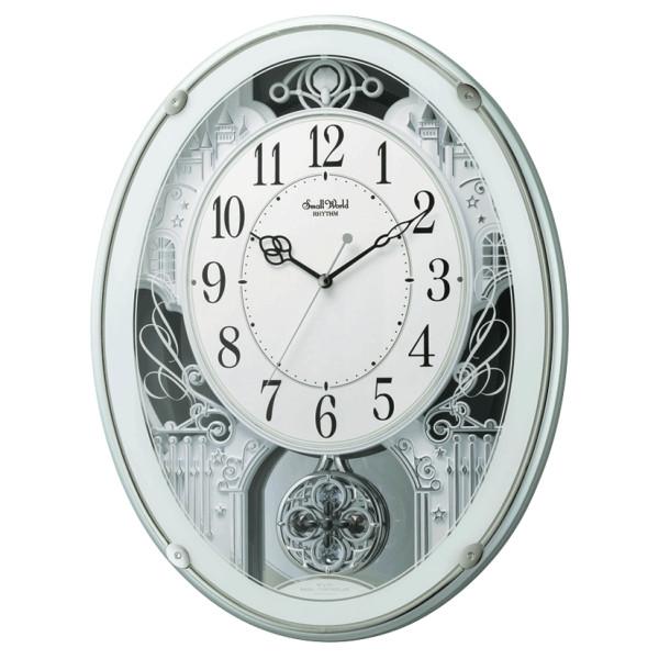リズム時計 電波掛時計(アミュージングタイプ) からくり・アミューズ スモールワールドプラウド 4MN523RH05(ラッピング不可)(快適家電デジタルライフ)