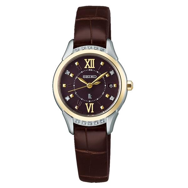 (国内正規品)(セイコー)SEIKO 腕時計 SSVW142 (ルキア)LUKIA レディース ピエール・エルメ プロデュース 限定モデル キャレマンショコラ(ワニ革バンド 電波ソーラー アナログ)(快適家電デジタルライフ)