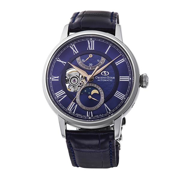 (国内正規品)(オリエントスター)ORIENTSTAR 腕時計 RK-AM0006L クラシック メンズ メカニカルムーンフェイズ 限定モデル(ワニ革バンド 自動巻き(手巻付) アナログ)(快適家電デジタルライフ)