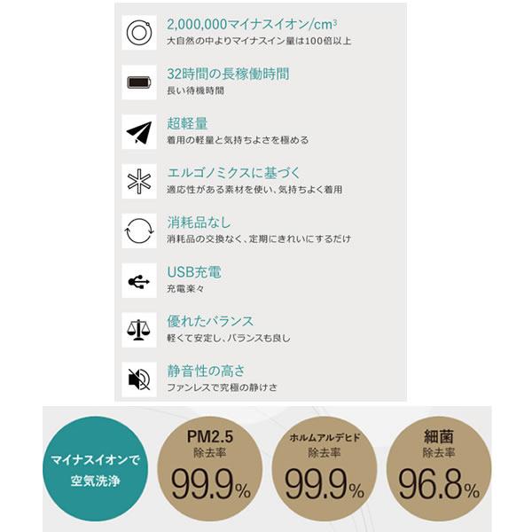 (在庫あり)【首にかけるだけの空気洗浄機】個人用空気清浄機 ible Airvida  L1 (アイブルエアビーダ) ホワイト(花粉症・副流煙・アレルギー・マイナスイオン)(快適家電デジタルライフ)