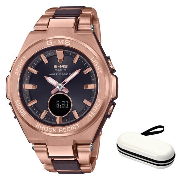 (時計ケースセット)(国内正規品)(カシオ)CASIO 腕時計 MSG-W200CG-5AJF (ベビーG)BABY-G レディース G-MS(コンポジットバンド 電波ソーラー アナデジ)(快適家電デジタルライフ)