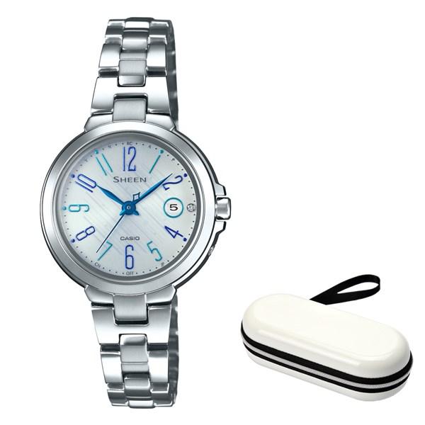(10月新商品)(時計ケースセット)(国内正規品)(カシオ)CASIO 腕時計 SHW-5100D-7AJF SHEEN(シーン) レディース(ステンレスバンド 電波ソーラー アナログ)(快適家電デジタルライフ)