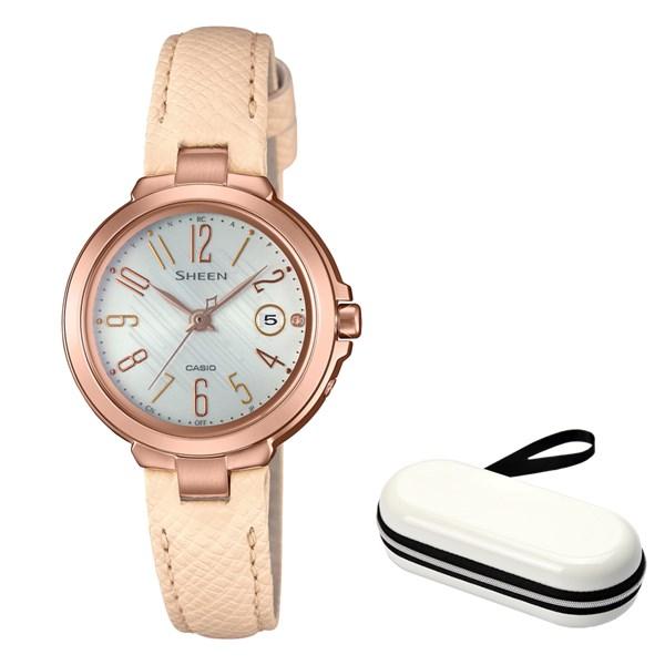 (時計ケースセット)(国内正規品)(カシオ)CASIO 腕時計 SHW-5100PGL-7AJF SHEEN(シーン) レディース(牛革バンド 電波ソーラー アナログ)(快適家電デジタルライフ)