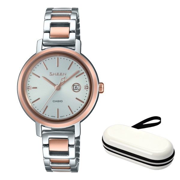 (10月新商品)(時計ケースセット)(国内正規品)(カシオ)CASIO 腕時計 SHS-4525SPG-7AJF SHEEN(シーン) レディース(ステンレスバンド ソーラー アナログ)(快適家電デジタルライフ)