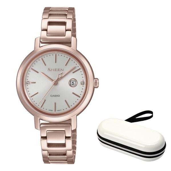 (10月新商品)(時計ケースセット)(国内正規品)(カシオ)CASIO 腕時計 SHS-4525CG-4AJF SHEEN(シーン) レディース(ステンレスバンド ソーラー アナログ)(快適家電デジタルライフ)