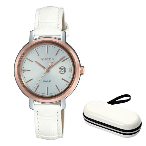 (10月新商品)(時計ケースセット)(国内正規品)(カシオ)CASIO 腕時計 SHS-4525PGL-7AJF SHEEN(シーン) レディース(牛革バンド ソーラー アナログ)(快適家電デジタルライフ)