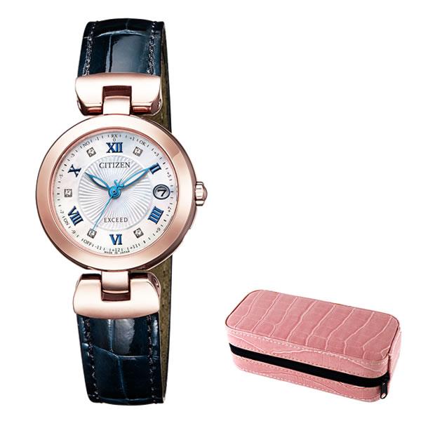 (時計ケースセット)(国内正規品)(シチズン)CITIZEN 腕時計 ES9424-06A (エクシード)EXCEED レディース(ワニ革バンド ソーラー電波 アナログ)(快適家電デジタルライフ)