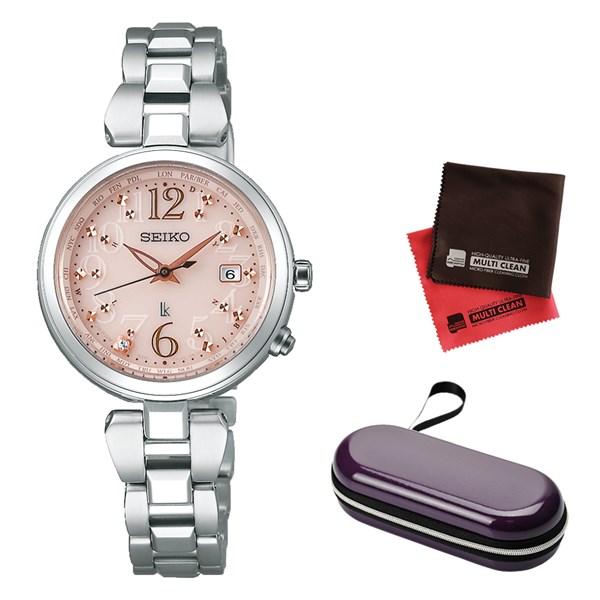 (10月新商品)(時計ケース・クロスセット)(国内正規品)(セイコー)SEIKO 腕時計 SSQV047 (ルキア)LUKIA レディース(チタンバンド 電波ソーラー アナログ)(快適家電デジタルライフ)