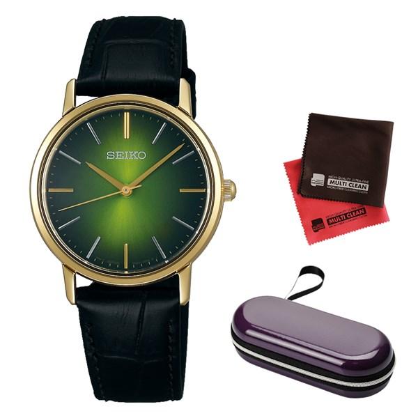 (時計ケース・クロスセット)(国内正規品)(セイコー)SEIKO 腕時計 SCXP136 セイコーセレクション レディース ゴールドフェザー 流通限定モデル(牛革バンド クオーツ アナログ)(快適家電デジタルライフ)