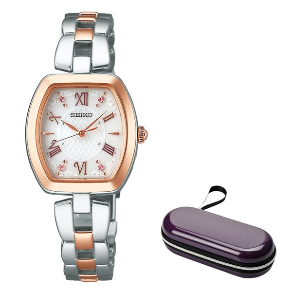 (時計ケースセット)(国内正規品)(セイコー)SEIKO 腕時計 SWFH098 セイコーセレクション レディース(ステンレスバンド 電波ソーラー アナログ)(快適家電デジタルライフ)