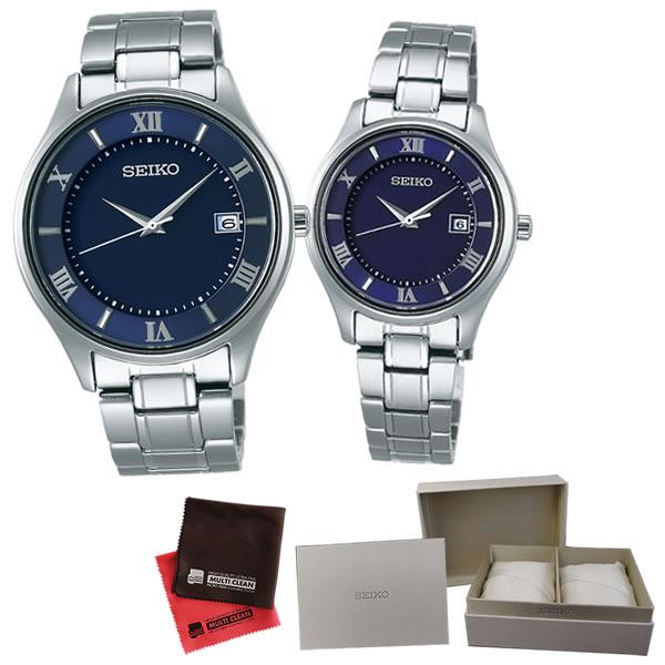 (ペア箱入り・クロスセット)(国内正規品)(セイコー)SEIKO 腕時計 SBPX115 メンズ・STPX065 レディース セイコーセレクション ペア(チタンバンド ソーラー アナログ ペアウォッチ)(快適家電デジタルライフ)