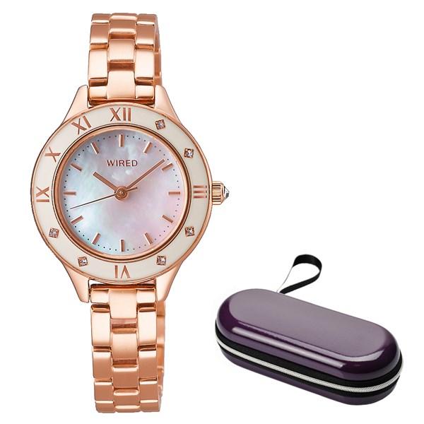 (時計ケースセット)(国内正規品)(セイコー)SEIKO 腕時計 AGEK441 (ワイアードエフ)WIREDf レディース(ステンレスバンド クオーツ アナログ)(快適家電デジタルライフ)