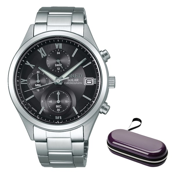 (時計ケースセット)(国内正規品)(セイコー)SEIKO 腕時計 AGAD098 (ワイアード)WIRED ペアスタイル メンズ(ステンレスバンド ソーラー 多針アナログ)(快適家電デジタルライフ)