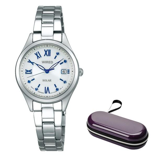 (時計ケースセット)(国内正規品)(セイコー)SEIKO 腕時計 AGED104 (ワイアードエフ)WIREDf ペアスタイル レディース(ステンレスバンド ソーラー アナログ)(快適家電デジタルライフ)